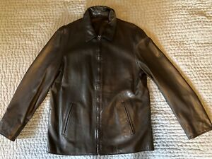 Ralph Lauren Men's Dark Brown Leather Jacket (worn only a few times)