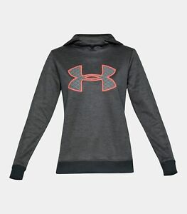 NWT! $55 Under Armour Women's Armour Fleece Big Logo Pullover Hoodie -Authentic-