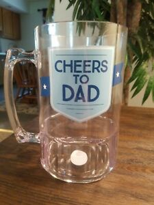 Hallmark Oversized Giant Beer Beer Mug Cheers To Dad. Dad Father Gift Brand New