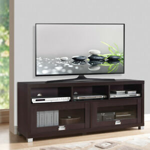 TV Stand 65in Flat Screen Home Furniture Entertainment Media Console Center Wood