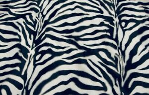 "Zebra Large White and Black Velboa upholstery Fabric per yard 60"" wide"