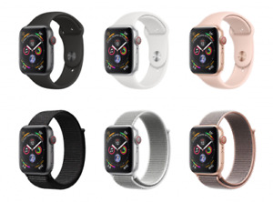 NEW Apple watch series 4 40mm GPS + Cellular Aluminum Sports Silicone wWarranty