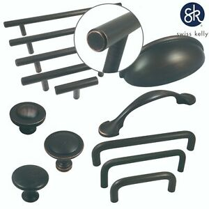 Swiss Kelly Hardware Oil Rubbed Bronze Kitchen Cabinet Handles Drawer Pulls