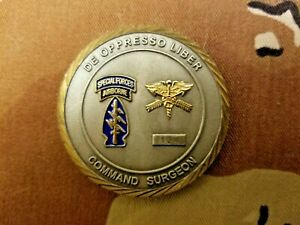 RARE, US ARMY , SPECIAL FORCES COMMAND , COMMAND SURGEON,  CHALLENGE COIN,