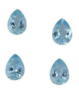 6X9MM-8X12MM AAA NATURAL AQUAMARINE OVAL CUT FACETED LOOSE GEMSTONE FOR JEWELRY