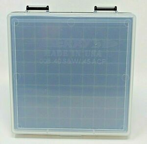 BERRY'S PLASTIC AMMO BOXES CLEARBLACK 100 Round 40 S&W  45 ACP