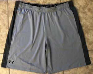 UNDER ARMOUR UA GRAY 2XL ATHLETIC PERFORMANCE SHORTS MENS