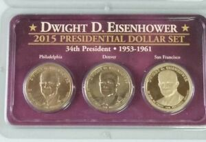 2015 Dwight Eisenhower PRESIDENTIAL $1 DOLLAR SET MINT WITH PROOF INCLUDED