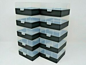 BERRY'S PLASTIC AMMO BOXES (10) CLEAR-BLACK 100 ROUND 223  5.56 NEW ITEM