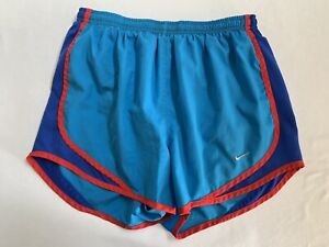 Nike Dri Fit Women's Tempo Running Shorts Gym Workout Lined Blue Size Small