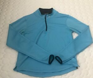 Brooks Women's Blue Half Zip Running Shirt Top Size Small