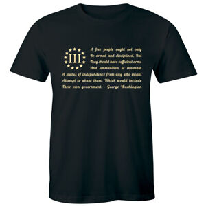 Three Percenter When Tyranny Becomes Law Rebellion Becomes Duty 2A Men#x27;s T shirt
