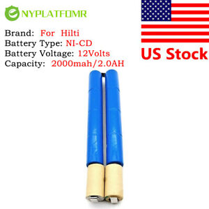 2000mah 2.0AH For Hilti 12V NiCD Battery pack CD RBIO 235899 003161