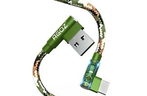 L Shape 90 Right Angle Camo USB C Cable FAST Charger Type C Cord for Samsung $7.98