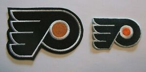 Philadelphia Flyers Embroidered Patches 2 Sizes Iron or Sew On NHL FREE US Mail