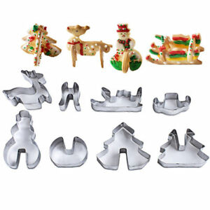 Stainless Steel 3D Christmas Three Biscuit Pastry Cookie Cutter Cake Baking Mold