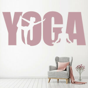 Yoga Meditation Exercise Wall Decal Sticker WS 45643