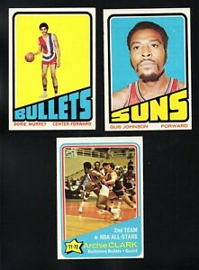 3 EX+ EXMT+ BULLETS LOT 1972-73 TOPPS #170 6 61 ARCHIE CLARK GUS JOHNSON MURREY