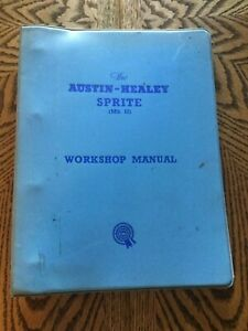 ORIGINAL AUSTIN HEALEY SPRITE MK. II WORKSHOP MANUAL COMPLETE Part No. AKD1834