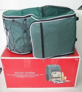 Target Insulated Wheeled Picnic Backpack Trolley + Service for 4