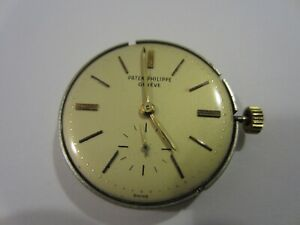 1950's PATEK PHILIPPE 12-600 AT AUTOMATIC MOVEMENT Creme DIAL 18K GOLD ROTOR