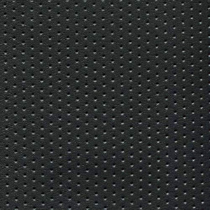 Perforated Black Vinyl Upholstery Fabric Durable Grade Vinyl Fabric by the Yard
