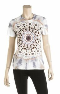 Christian Dior White Cotton Short Sleeve Kaleidoscope Shirt (Size S)