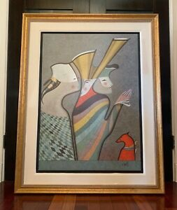 "Mihail Chemiakin Serigraph On Canvas: ""Hermitage Suite I"" Beautifully Framed $1750.00"