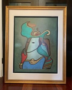 "Mihail Chemiakin Serigraph On Canvas: ""Hermitage Suite II"" Beautifully Framed $1750.00"
