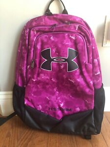 NWT UNder Armour Storm Scrimmage Backpack 1277422 PINKPURPLE PRINT