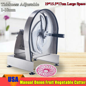 Pro Commercial Manual Onion Fruit Vegetable Cutter Slicer Cutting Machine Safe