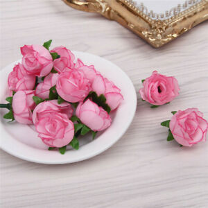 50PC Artificial Roses Flower Heads Pretty Table Rose Buds Decor Floral Vine LAUS