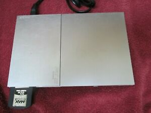 PS2 Silver Slim Console Model SCPH-90001 With Controller and Memory Card 32MB .