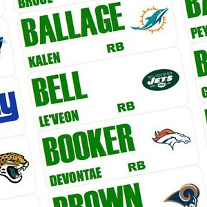 2019 FANTASY FOOTBALL DRAFT BOARD & COLOR LABELS - DRAFT KIT