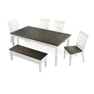 Joanna Two-Tone 6-Piece Dining Set