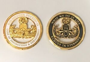 EOD Military challenge coin Explosive Ordnance Disposal EOMFD
