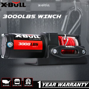 X-BULL Electric Winch 12V UTV Winch ATV Winch 3000LBS Steel Cable 4WD Off Road
