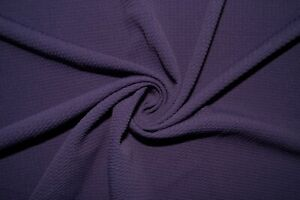 Purple #154 Bullet Double Knit Stretch Poly Lycra Spandex Fabric BTY