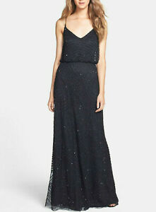 Adrianna Papell Beaded Blouson Gown $260 Size 14 # 3B 826 Blm $25.84