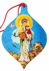 Our Lady of China Christmas Ornament Wooden Tree Decoration