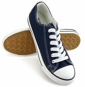 New Womens Shoes Low Top Canvas Suede Fashion Sneakers Sport Navy Casual Size 10 $20.99