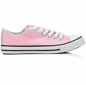 New Womens Shoes Low Top Canvas Suede Fashion Sneakers Sport Pink Casual Size 6 $17.84