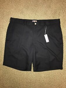 NWT $95 Peter Millar Crown Sport Flat Front Black Shorts - Size 40