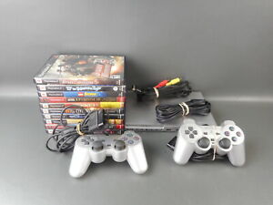 Sony PlayStation 2 Slim Silver SCPH-90001 Bundle Tested 10 Games