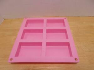 Silicone Rectangle Soap Mold  Six Cavities