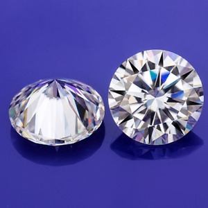 Pair G H White Round Diamond Cut Loose Moissanite VVS Use For Earrings (2 PCS)