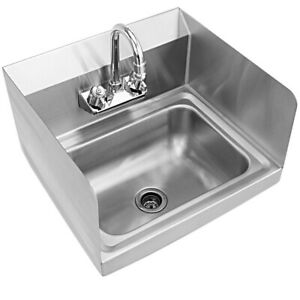 Bar Sink 14 in. 2-Hole Large Bowl Rust-Resistant Stainless Steel + Faucet