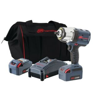 Ingersoll Rand W7152 K22 1 2quot; IQV20 High Torque Impact Wrench 2 Battery Kit $491.20