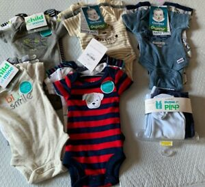 Lot of 20 Carter's & Gerber Preemie Baby Boys Infant Clothes -New With Tags