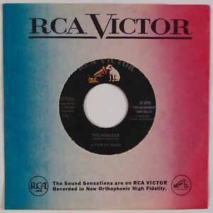 A PAIR OF KINGS: The Monster RCA VICTOR 47 7659 Rocker Horror Halloween 45 NM $25.00